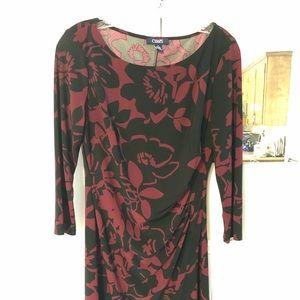 Chaps floral wrap dress